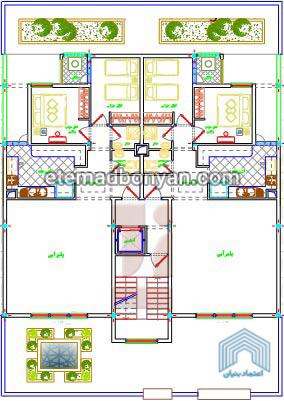 2- 4 طبقه – هر طبقه دو واحد 98 متری (2 خوابه) درفاز 8 پردیس