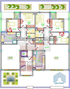 3- 5 طبقه – هر طبقه دو واحد 105 متری (2 خوابه) در فاز 8 پردیس