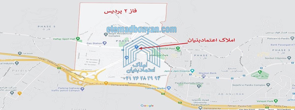 نقشه فاز 2 شهر جدید پردیس