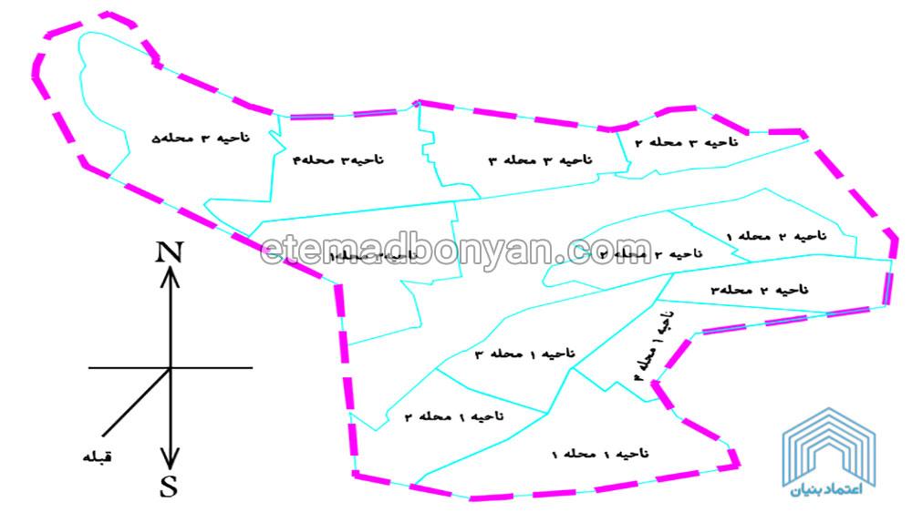 نقشه ناحیه فاز 11 پردیس