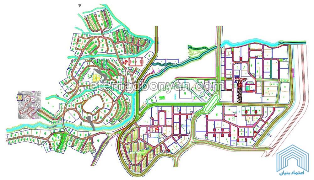 نقشه محله های فاز 1 پردیس