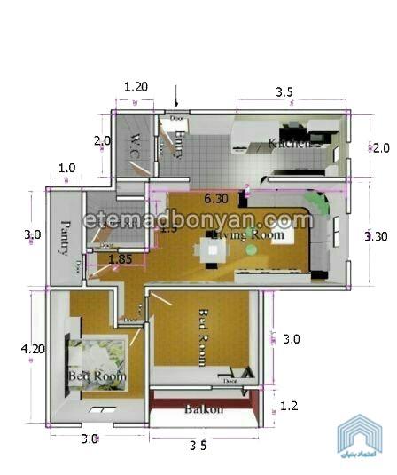 نقشه واحد های فاز 11 پردیس